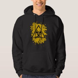 Biohazard - bleached grungy look hoodie