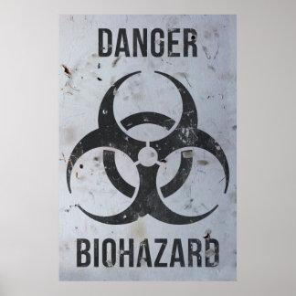 Biohazard Danger Sign Poster