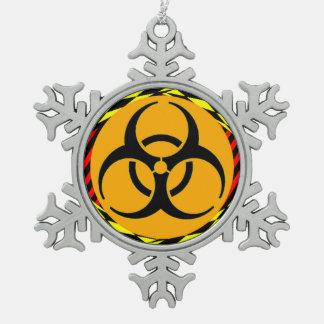 Biohazard Design by Kenneth Yoncich Pewter Snowflake Decoration