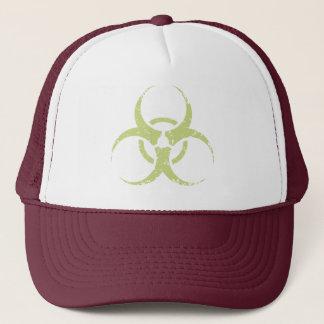 Biohazard -dist -green trucker hat