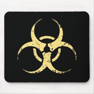 Biohazard -dist -yellow mouse mat