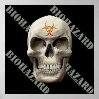 Biohazard Evil Skull Poster