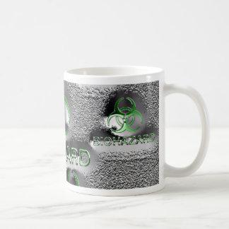 biohazard fallout contamination sign toxic green coffee mug