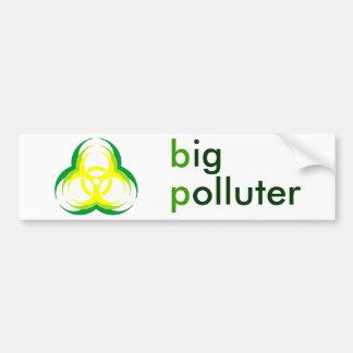 biohazard flower big polluter bumper sticker
