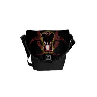 Biohazard Gas Mask Customizable Commuter Bag