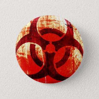 Biohazard Grunge 6 Cm Round Badge