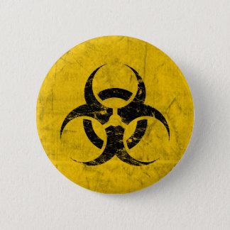 Biohazard Grunge Customizable 6 Cm Round Badge