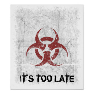 Biohazard Grunge Customizable Poster