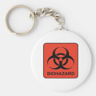 Biohazard_keychain Basic Round Button Key Ring