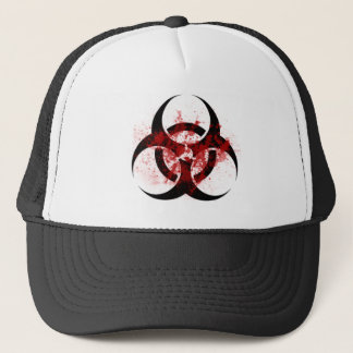 biohazard merch trucker hat