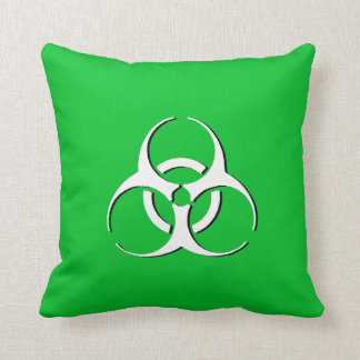 Biohazard Pillow - White Green