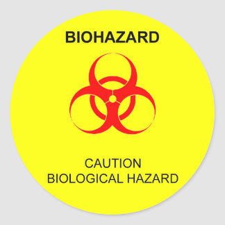 BIOHAZARD ROUND STICKER