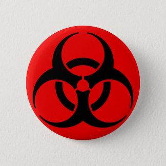 Biohazard Symbol 6 Cm Round Badge