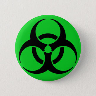 Biohazard Symbol 6 Cm Round Badge