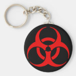 Biohazard Symbol Keychains