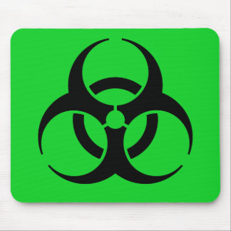 Biohazard Symbol Mouse Pads