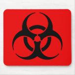 Biohazard Symbol Mouse Pad