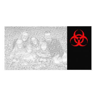 Biohazard Symbol Personalised Photo Card