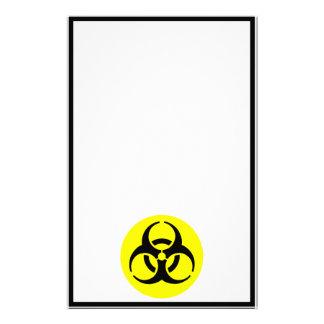 BioHazard Symbol Personalized Stationery