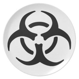 Biohazard Symbol Plate