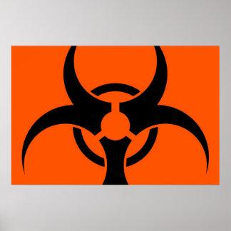 Biohazard Symbol Poster