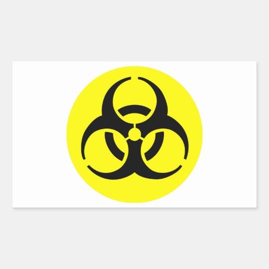 BioHazard Symbol Rectangular Sticker