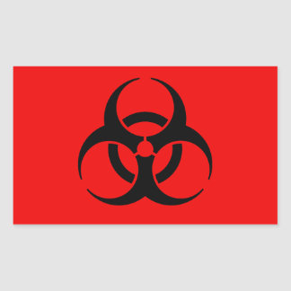 Biohazard Symbol Rectangular Sticker