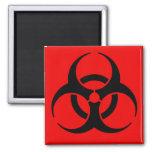 Biohazard Symbol Square Magnet