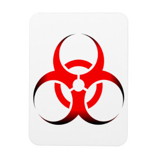 Biohazard Symbol Zombie red black Magnet