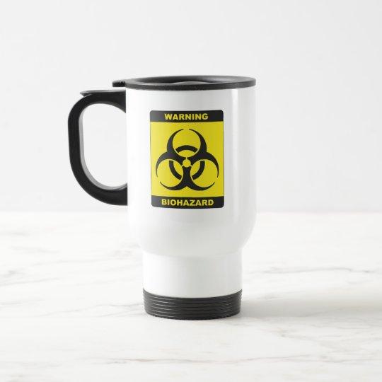 Biohazard travel mug
