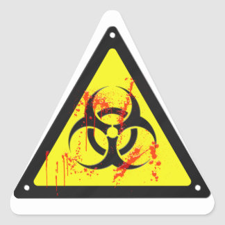 Biohazard Triangle Sticker