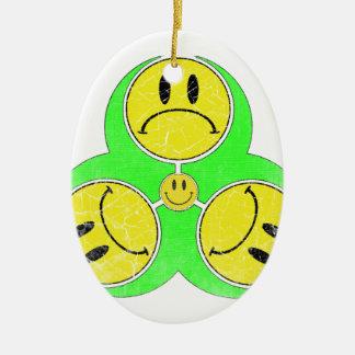 Biohazard Unhappy. Christmas Ornament