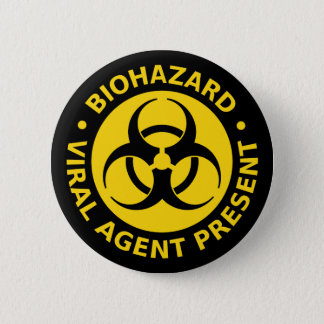 Biohazard - Virus Warning 6 Cm Round Badge