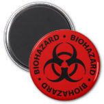 Biohazard Warning 6 Cm Round Magnet