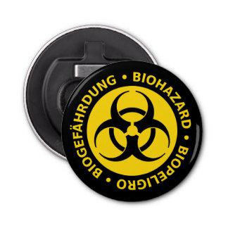 Biohazard Warning Sign Bottle Opener