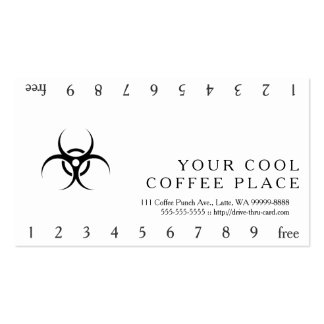 Biohazard Warning Symbol Pack Of Standard Business Cards
