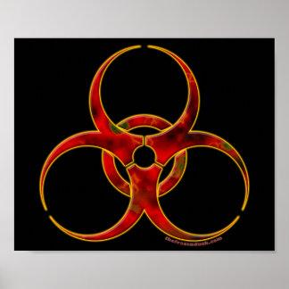 Biohazard Warning Symbol Poster