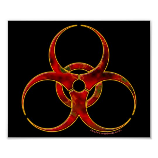 Biohazard Warning Symbol Poster Zazzle Co Uk