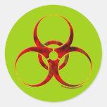 Biohazard Warning Symbol Sticker