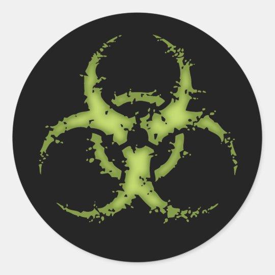Biohazard -xdist classic round sticker