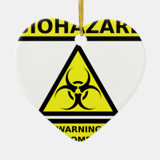 Biohazard zombie christmas ornament