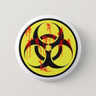 Biohazard Zombie Outbreak 6 Cm Round Badge