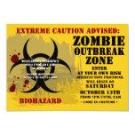 Biohazard Zombie Party Invitations 13 Cm X 18 Cm Invitation Card