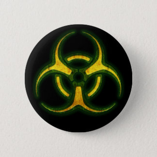 Biohazard Zombie Warning 6 Cm Round Badge