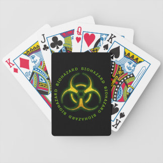Biohazard Zombie Warning Bicycle Playing Cards