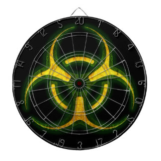 Biohazard Zombie Warning Dart Boards