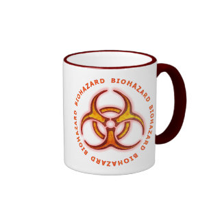 Biohazard Zombie Warning Coffee Mugs