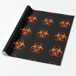 Biohazard Zombie Warning Wrapping Paper