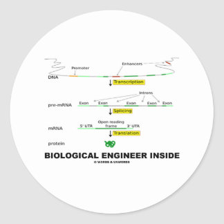 Biological Engineer Inside Round Stickers