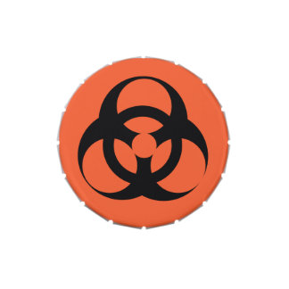 Biological Hazard - U+2623 Jelly Belly Tin